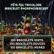 Fête Feu Tricolore Bracelet Phosphorescent