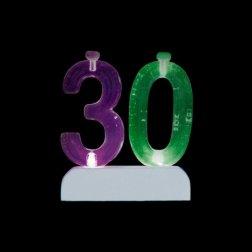 4 Bougies et Numéro 30 Led