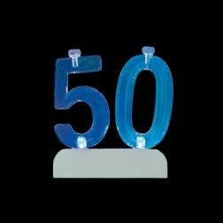 4 Bougies et Numéro 50 Led