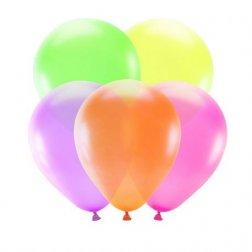 5 Ballons de Couleurs Néon