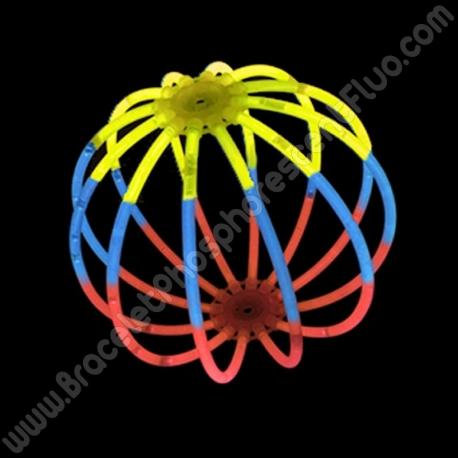 Sphères Fluo Tricolores