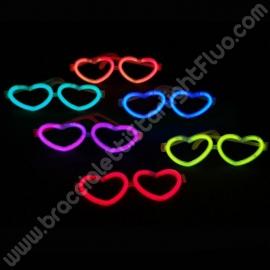 Lunettes Fluo Coeur à l' engros (50 u.)