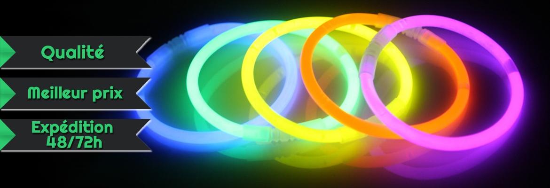 bracelets lumineux fluorescent